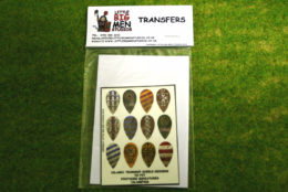 Islamic Shield Transfers for Footsore Miniatures Little Big Men ISLAM(FM)6