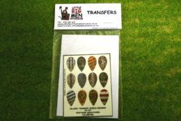 Islamic Shield Transfers for Footsore Miniatures Little Big Men ISLAM(FM)6