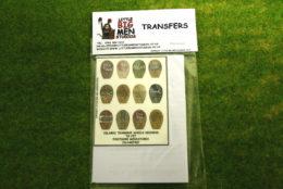 Islamic Shield Transfers for Footsore Miniatures Little Big Men ISLAM(FM)7
