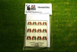 Late Roman Shield Transfers for Footsore Miniatures Little Big Men LIRC(FM)2