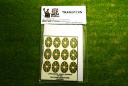 Late Roman Shield Transfers for Footsore Miniatures Little Big Men LIRC(FM)3