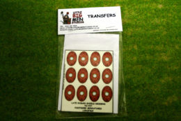 Late Roman Shield Transfers for Footsore Miniatures Little Big Men LIRC(FM)4