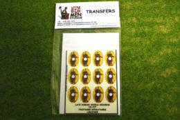 Late Roman Shield Transfers for Footsore Miniatures Little Big Men LIRC(FM)5