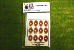 Late Roman Shield Transfers for Footsore Miniatures Little Big Men LIRC(FM)7