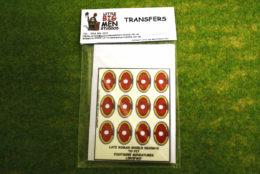 Late Roman Shield Transfers for Footsore Miniatures Little Big Men LIRC(FM)7