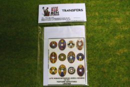 Late Roman Arthurian Shield Transfers for Footsore Miniatures Little Big Men LIRC(FM)8
