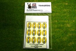 Late Roman Shield Transfers for Footsore Miniatures Little Big Men LR(FM)1
