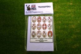 Late Roman Arthurian Shield Transfers for Footsore Miniatures Little Big Men LR(FM)10