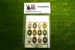 Late Roman Arthurian Shield Transfers for Footsore Miniatures Little Big Men LR(FM)11