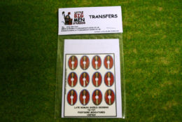 Late Roman Shield Transfers for Footsore Miniatures Little Big Men LR(FM)4
