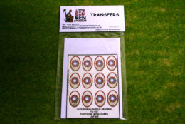 Late Roman Shield Transfers for Footsore Miniatures Little Big Men LR(FM)5
