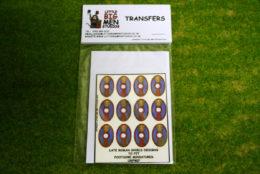 Late Roman Shield Transfers for Footsore Miniatures Little Big Men LR(FM)7