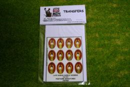 Late Roman Shield Transfers for Footsore Miniatures Little Big Men LR(FM)8