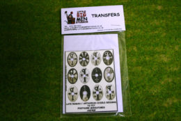 Late Roman Arthurian Shield Transfers for Footsore Miniatures LR(FM)9