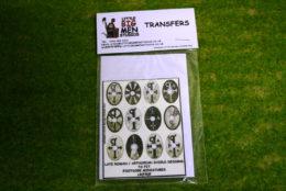 Late Roman Arthurian Shield Transfers for Footsore Miniatures Little Big Men LR(FM)9