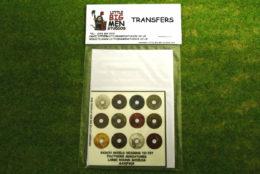 Saxon Shield Transfers for Footsore Miniatures Little Big Men SAX(FM)5