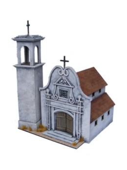Old West Cowboy Building Mexican Church 2 25mm 28mm A012
