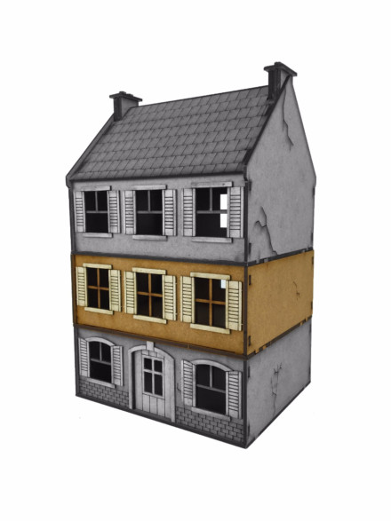 Ww Europe Small House Additional Floor 28mm Laser Cut