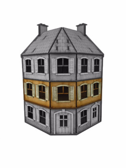 WW EUROPE Corner Terrace House – ADDITIONAL FLOOR 28mm Laser cut MDF kit N041