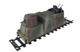 Railway WW2 Armoured Artillery Carriage 28mm R031
