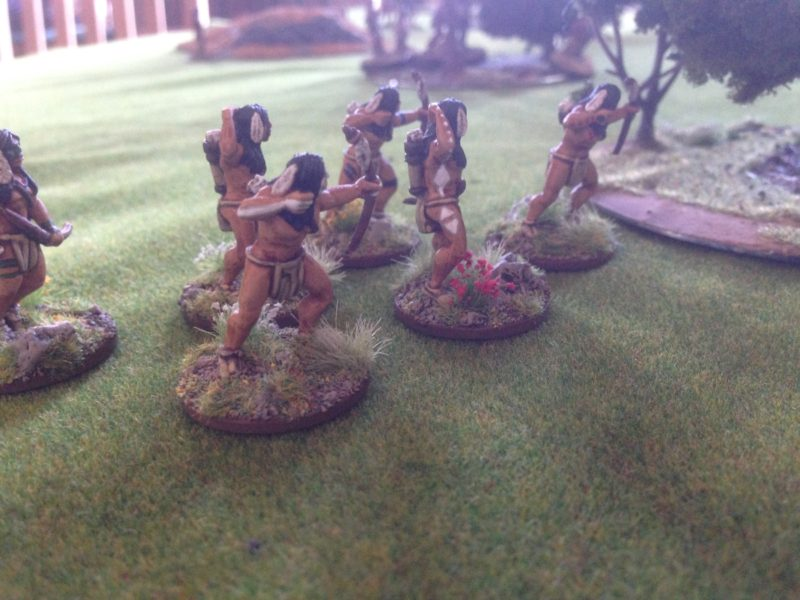 The Indians stealthly approach the Village.