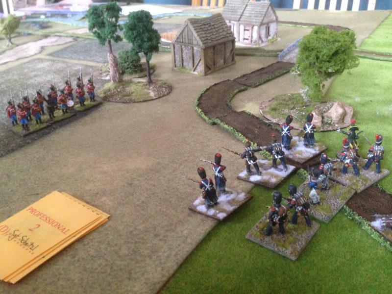 Austrian Militia take up position