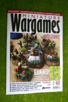 MINIATURE WARGAMES ISSUE 401 September 2016 MAGAZINE