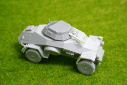 1/48 scale – 28mm SD. KFZ 222 WW2 German Armoured car Blitzkrieg Miniatures