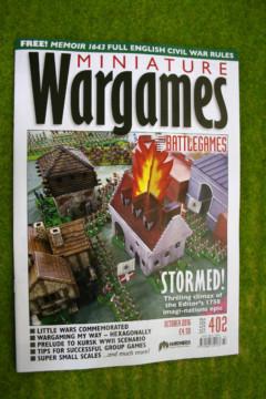 MINIATURE WARGAMES ISSUE 402 October 2016 MAGAZINE