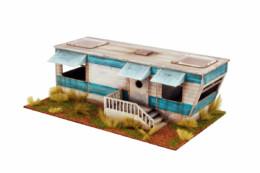 Retro Americana Residential Trailer 28mm Laser Cut MDF Building P001