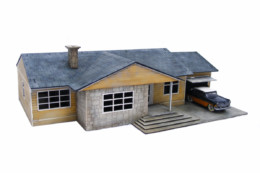 Retro Americana Residential Ranch Style – Garage RHS 28mm Laser Cut MDF Building P009