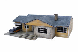 Retro Americana Residential Ranch Style – Garage LHS 28mm Laser Cut MDF Building P011
