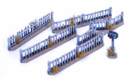 Retro Americana Picket Fence Set 28mm Laser Cut MDF Building P016