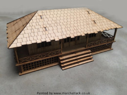 Colonial House 28mm MDF Buildings Sarissa Precision G088