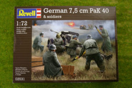 GERMAN 7.5cm PAK and Crew of WWII 1/72  Revell 02531