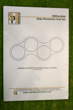 SAGA Movement Tray Set of 6 trays for 4 x 25mm Round Infantry Bases