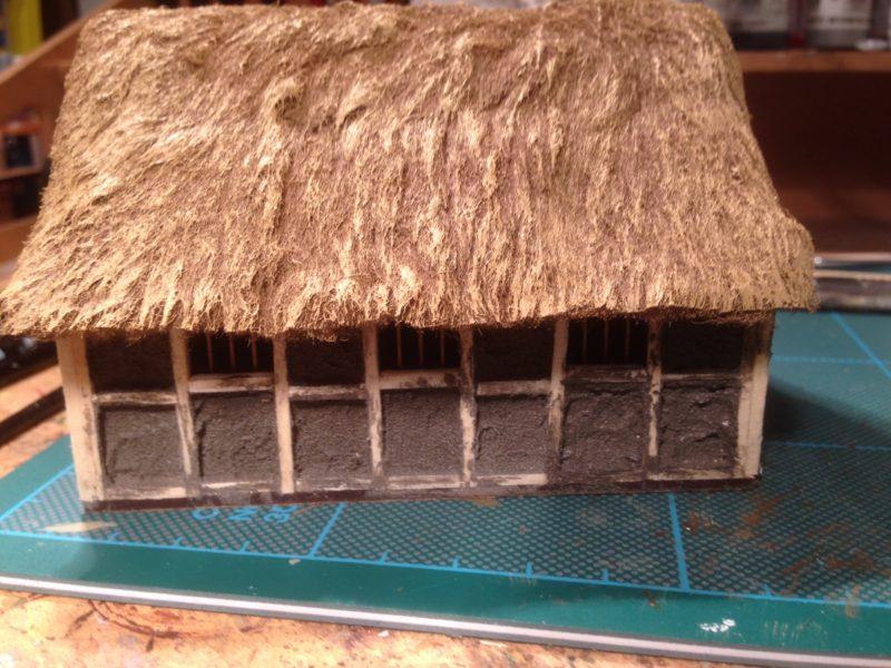Dark Age house with daub