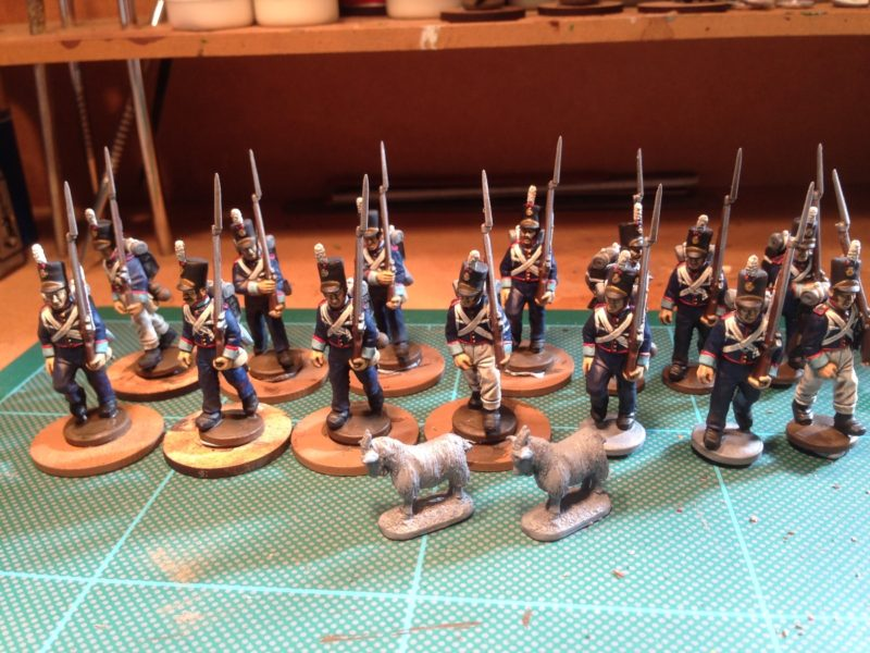 Portuguese 23rd Regiment awaiting final highlight and basing!