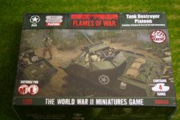 Flames of War US Tank Destroyer Platoon PLASTIC 15mm UBX49