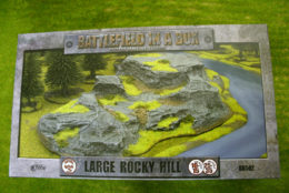 Battlefield in a Box LARGE ROCKY HILL painted tabletop terrain 15mm to 28mm BB502