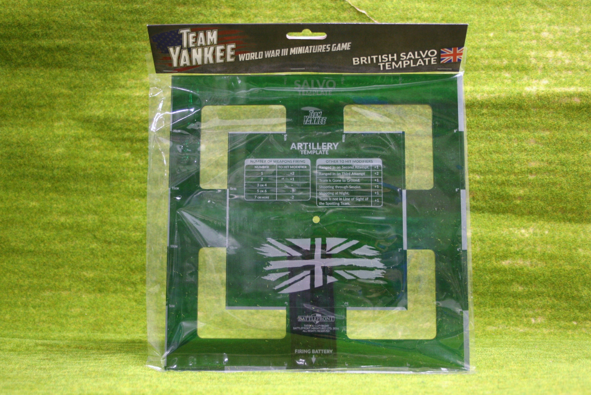 Team Yankee British Salvo Template Flames Of War 15mm Tat02 Arcane
