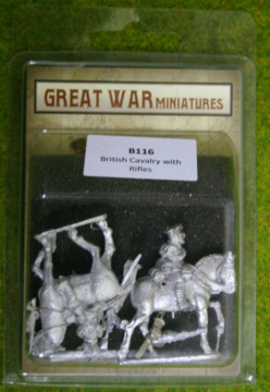 GREAT WAR MINIATURES British Cavalry with Rifles 1914 Early War B116 28mm