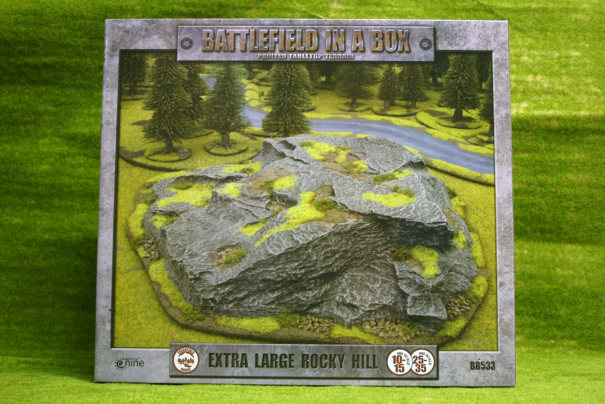 battlefield in a box extra large rocky hill painted tabletop terrain 15mm to 28mm bb533 arcane. Black Bedroom Furniture Sets. Home Design Ideas