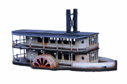 COLONIAL PADDLE STEAMER SIDE WHEEL 28mm MDF Sarissa Precision G090