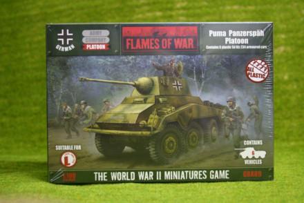 Flames of War German PUMA PANZERSPAH Platoon 15mm GBX89