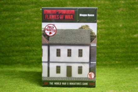 Flames of War DIEPPE HOUSE painted tabletop terrain 15mm BB155