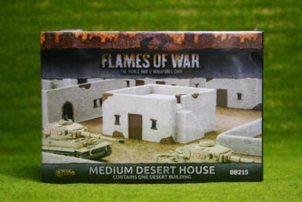 Flames of War MEDIUM DESERT HOUSE painted tabletop terrain 15mm BB215