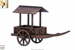 Japan GEISHA CART SAMURAI/ JAPANESE 28mm Laser cut MDF scale Building B018