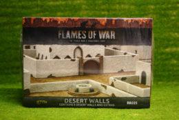 Flames of War Desert Walls painted tabletop terrain 15mm BB225
