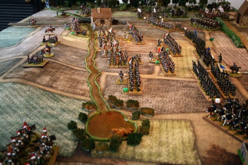 French pressure has forced the Dutch & brunswickers back from the stream.